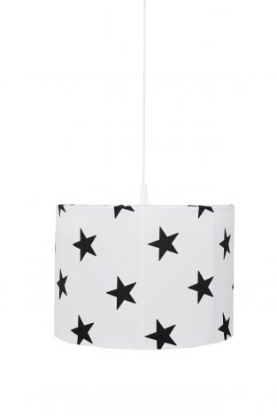 Suspension Stars - blanc/noir