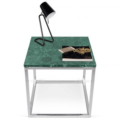 Table d'appoint Prairie - marbre vert/chrome