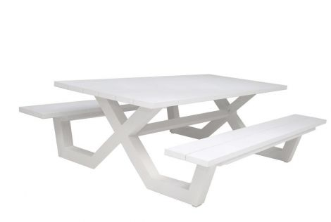 Table de pique-nique Biabou 220x110 - blanc