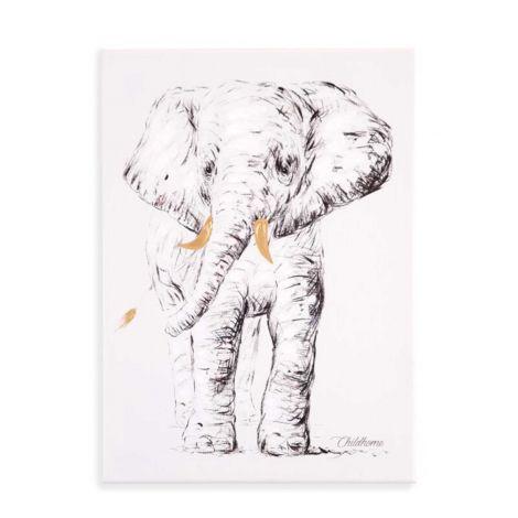 Tableau éléphant 30x40cm