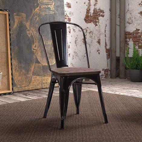 Set van 4 stoelen Victoria - zwart