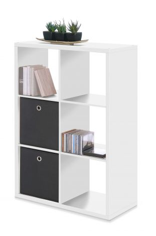 Armoire colonne Max 6 niches - blanc