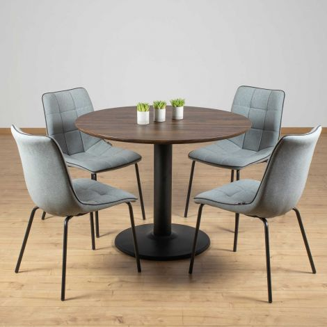 Set van 4 stoelen Lucie - lichtgrijs