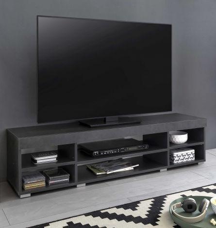 Tv-meubel Flint 140cm - grafiet/wit