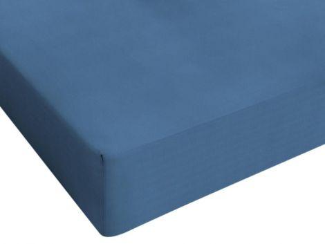 Hoeslaken Jersey blauw 80/90/100x200cm