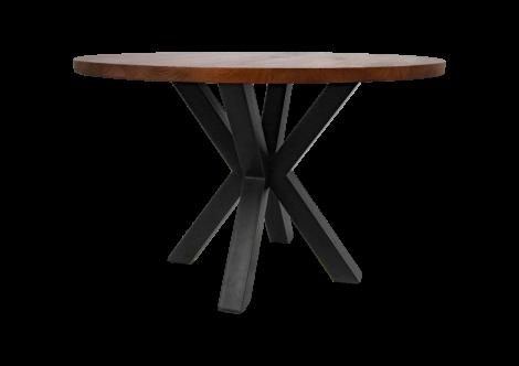 Table à manger ronde Oakland ø140cm - bois de manguier/fer