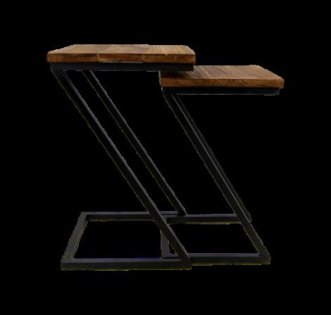 Table d'appoint Taylor - naturel / noir - ensemble de 2