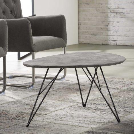 Salontafel Nova 90x60 met haarspeldpootjes - beton