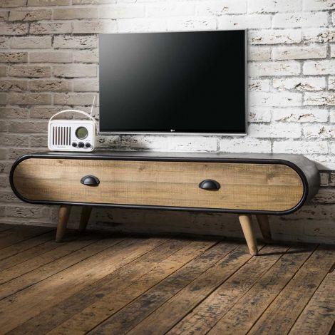Tv-meubel Trixie 120cm - bruin/zwart