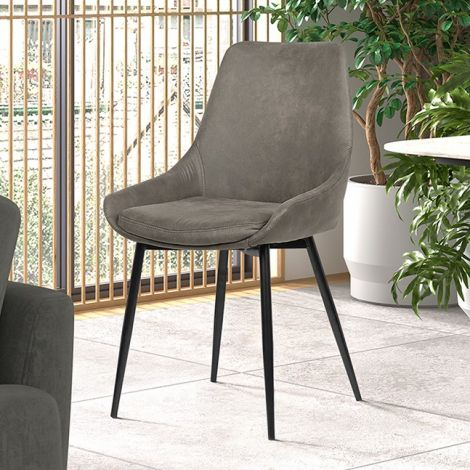 Set van 2 stoelen Mirano - grijs