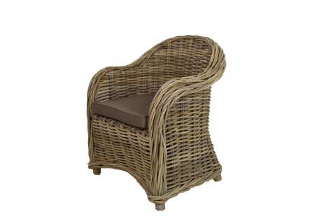 Kinderstoel Arthur met kussen - koboo grijs / mocca