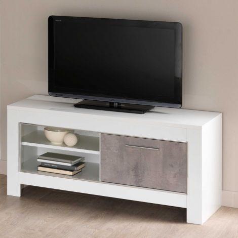 Tv-meubel Modena 112 cm - wit/beton