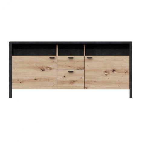Meuble tv In-Loft 135cm - chêne vieilli