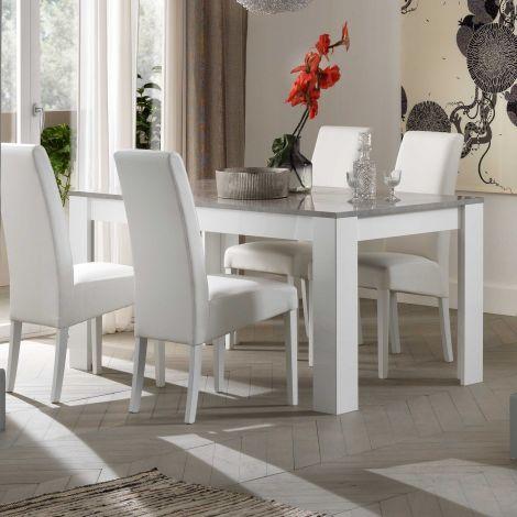 Eettafel Modena 160 cm - wit/beton