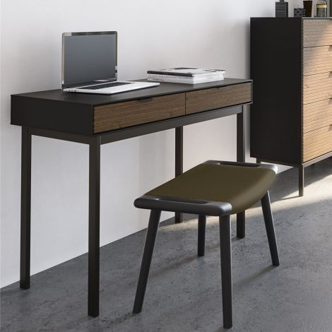 Bureau Selma 100cm met lades - zwart/bruin