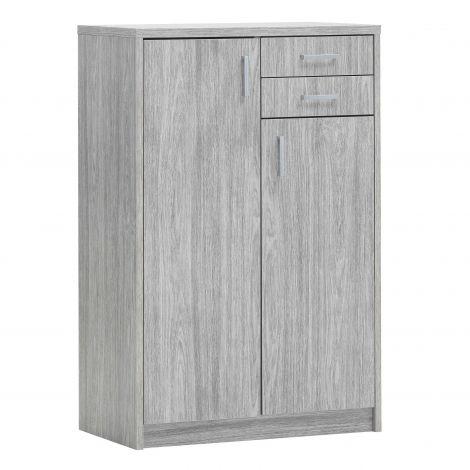 Commode Spacio 110cm 2 deuren/2 laden - grijze eik