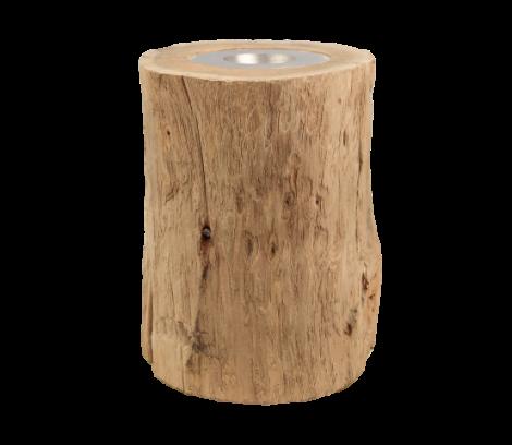 Kaarsenhouder large - ø10 cm - oud teak