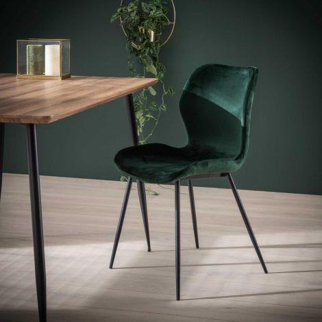 Set de 4 chaises Vince - vert