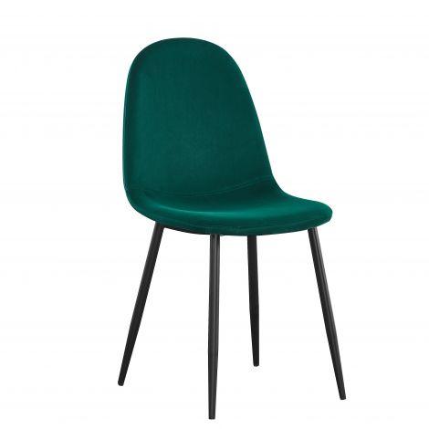 Lot de 4 chaises Jo velours - vert