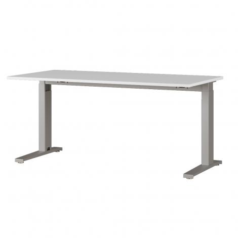 Bureau Osmond 160cm réglable en hauteur - gris clair/argent