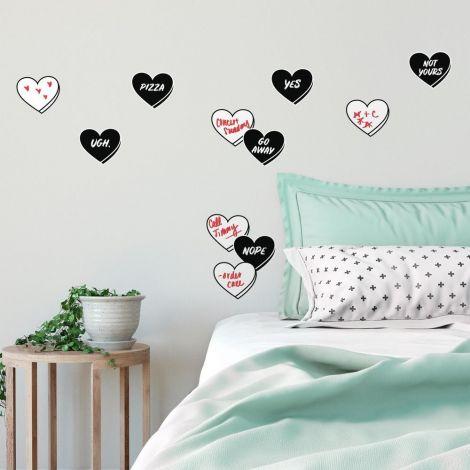 Stickers muraux Real Talk Conversation Hearts