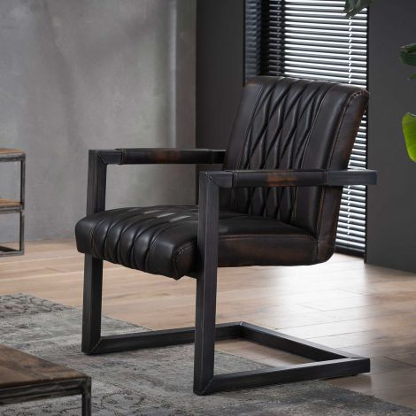 Set van 2 fauteuils Grins - bruin