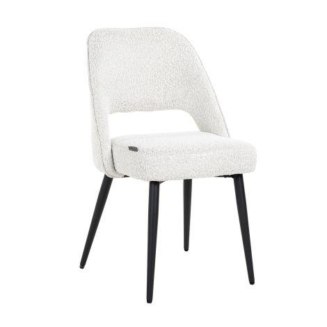 Chaise de salle à manger Rumma bouclé - blanc