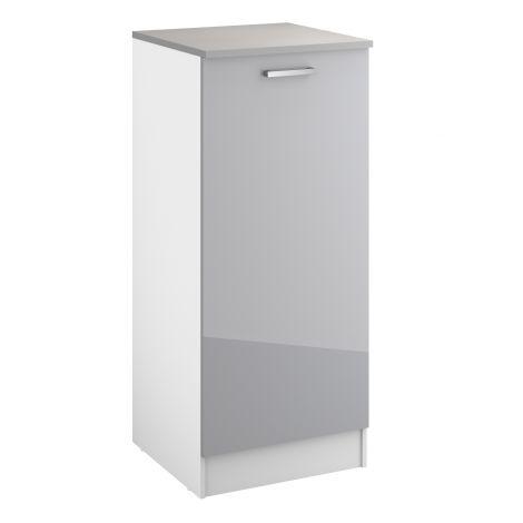 Meuble Eli 60x141 avec porte - gris