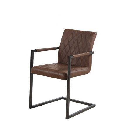 Set van 2 stoelen Britt - bruin