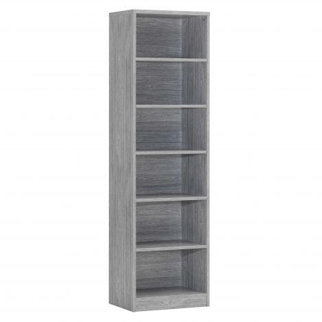 Bibliothèque Spacio 55cm à 5 tablettes - chêne gris
