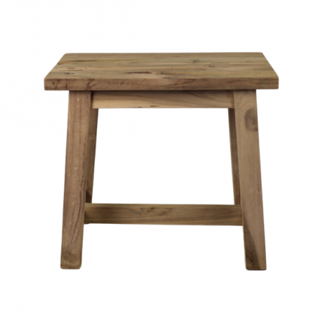 Decoratieve kruk Lawas 50 cm - natuur/teak