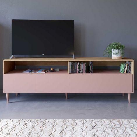 Tv-meubel Horizon - eik/roze