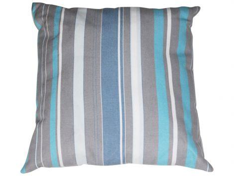 Kussen 40x40 - blauw/grijs
