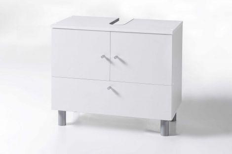 Wastafelonderkast Benja 3 deuren - wit