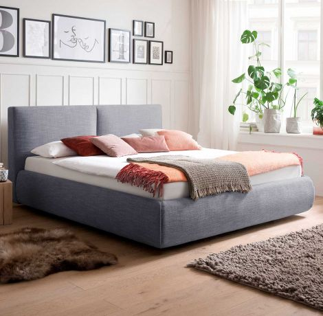 Bed met opbergruimte Celine 180x200 - blauw (incl. Rimini matras H2)