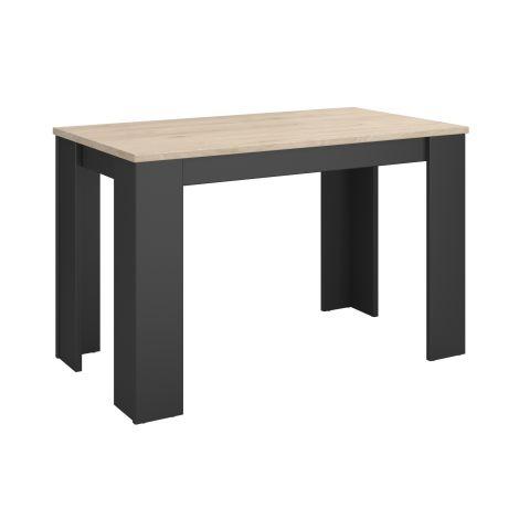 Keukentafel Andres- zwart/eik