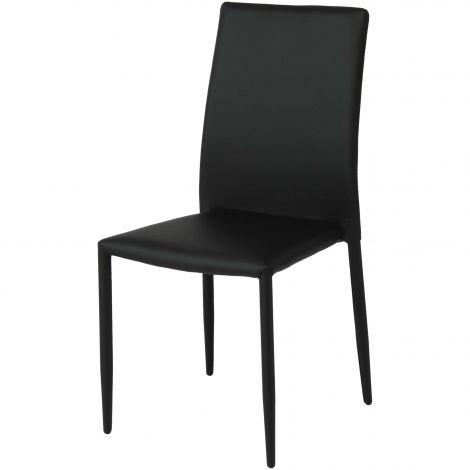 Set van 4 stoelen Nora - zwart