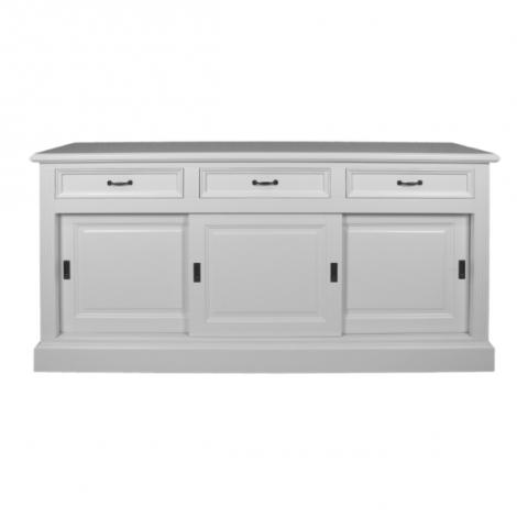 Dressoir Provence 150cm met 3 deuren & 3 lades - wit