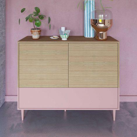 Dressoir Horizon - eik/roze