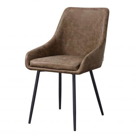 Set van 4 stoelen Jessie - bruin