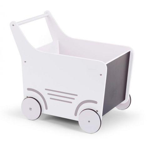 Houten loopwagentje - wit