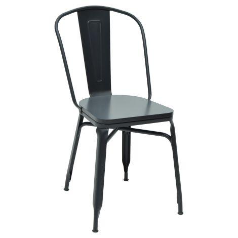 Set van 2 metalen stoelen Maxwell - zwart