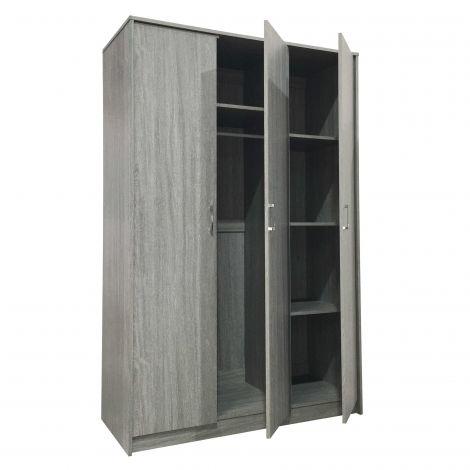 Armoire Ray 3 portes - chêne gris
