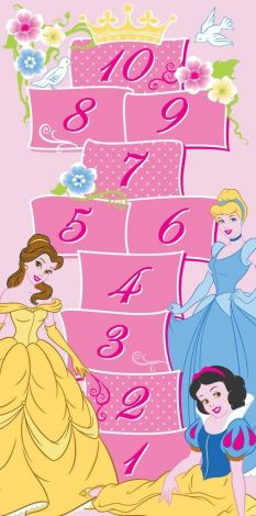 Tapijt Disney Princess - Hopscotch
