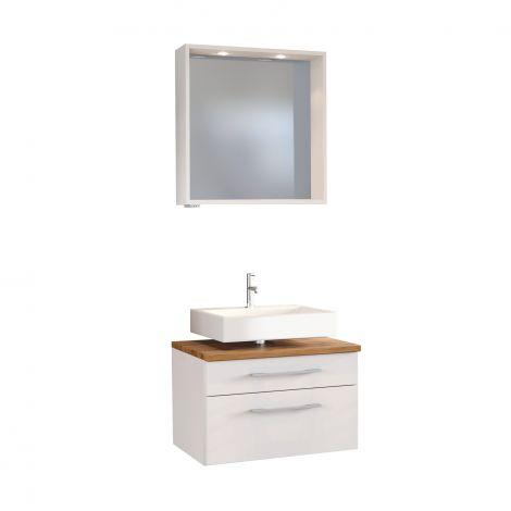 Set wastafelonderkast & spiegel Dasa 60cm - wit