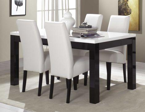 Eettafel Roma 190 cm - zwart/wit