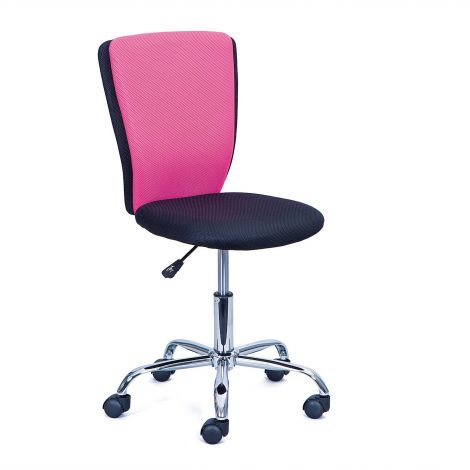 Bureaustoel CC - zwart/roze