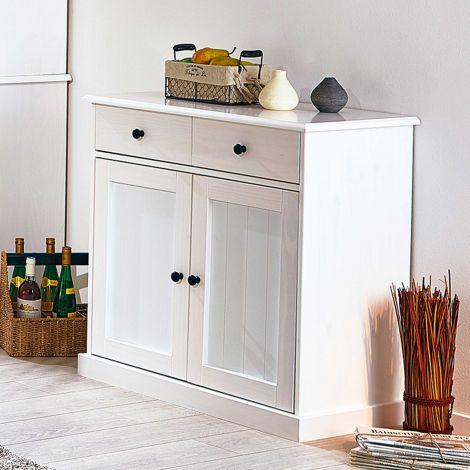 Dressoir Westerland 2 deuren landelijk - wit