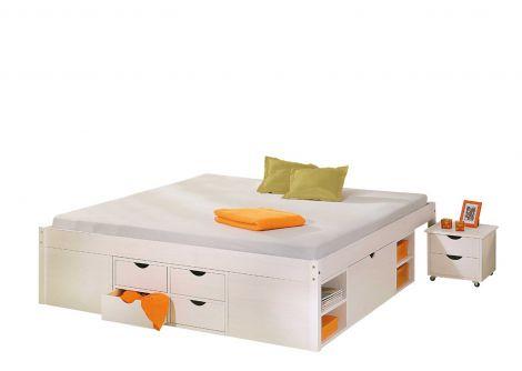 Bed Xavier 140x190cm - white wash