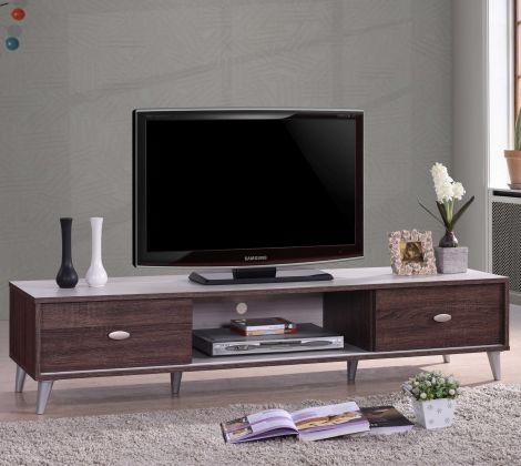 Tv-meubel Anna 150cm - bruin/wit